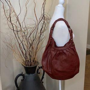 Lucky 🍀 deep red/burgundy leather hobo
